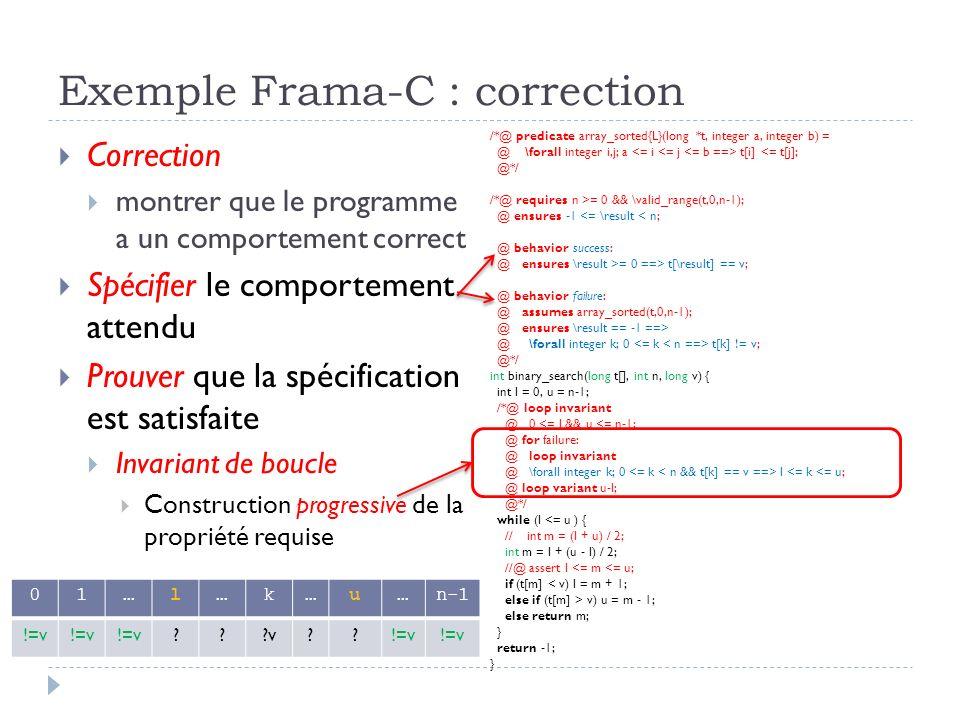 Exemple Frama-C : correction