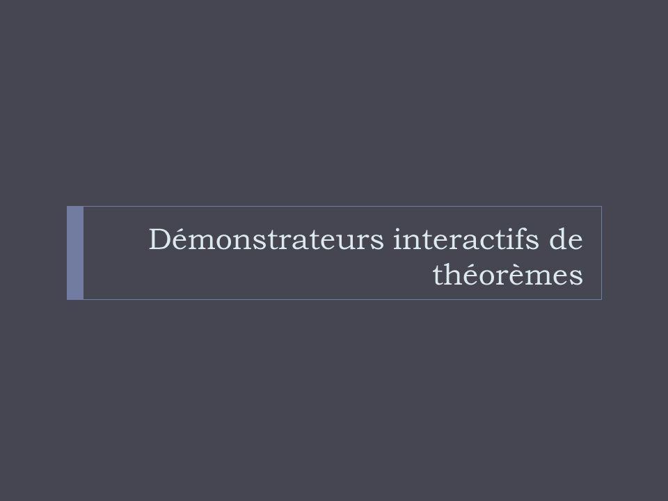 Démonstrateurs interactifs de théorèmes