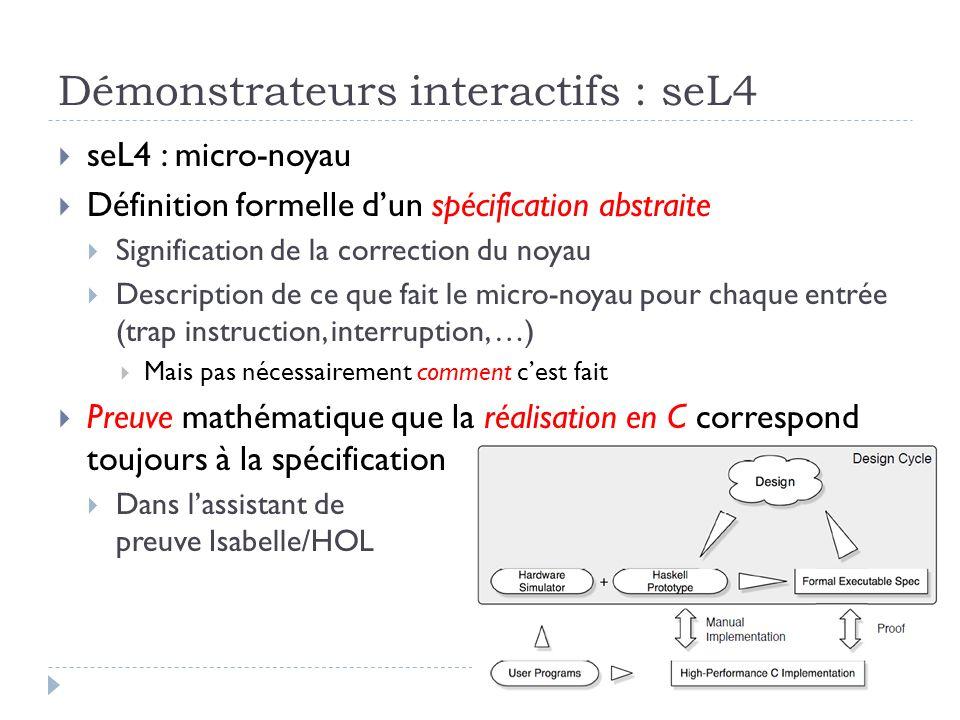Démonstrateurs interactifs : seL4
