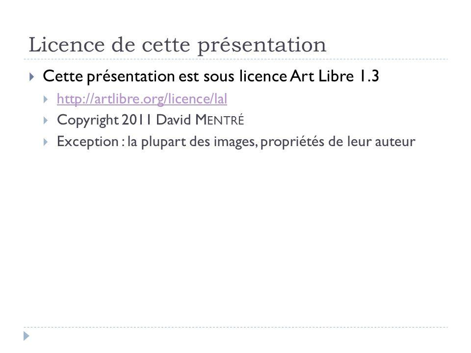 Licence de cette présentation