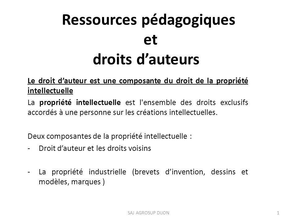 Ressources pédagogiques et droits d'auteurs