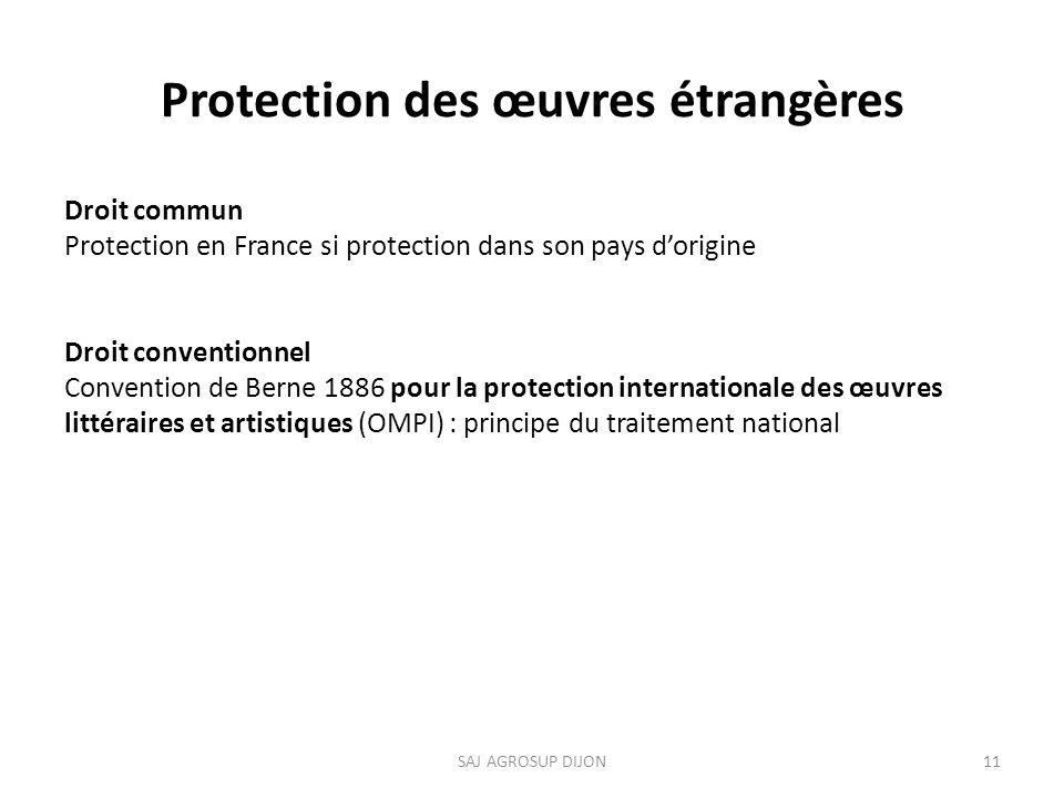 Protection des œuvres étrangères