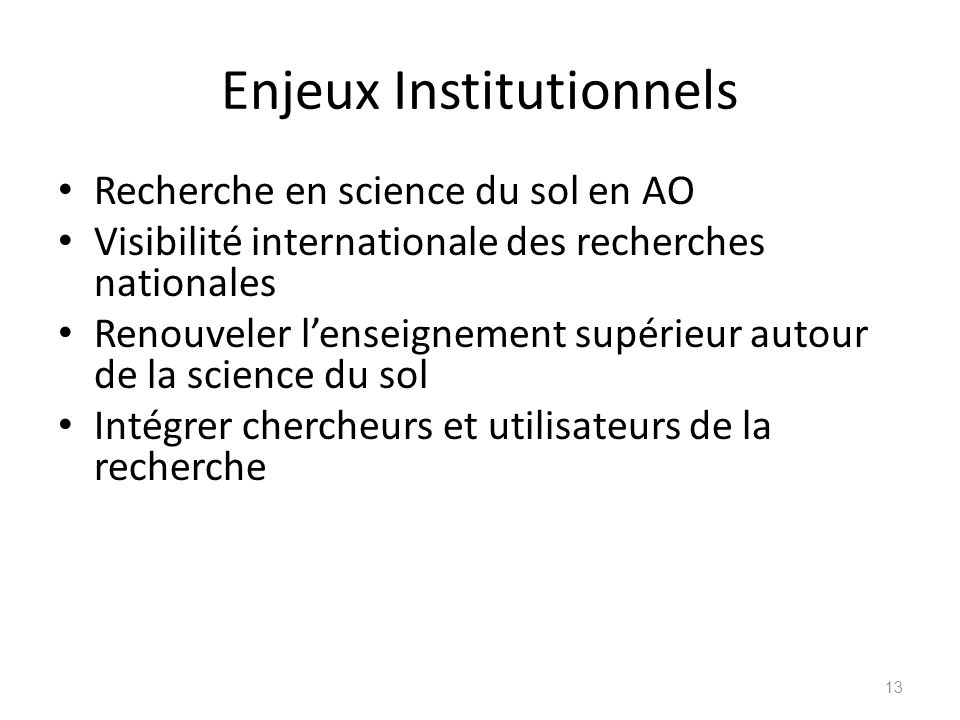 Enjeux Institutionnels