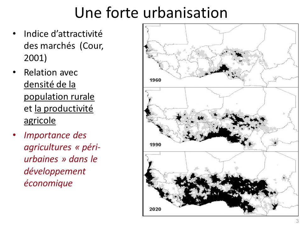 Une forte urbanisation