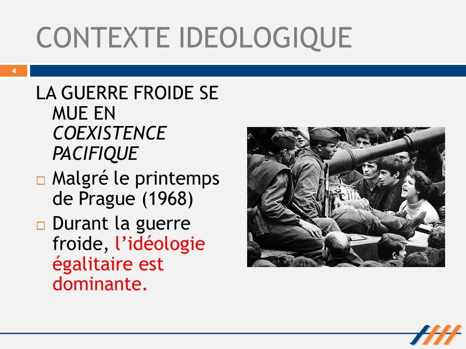 CONTEXTE IDEOLOGIQUE LA GUERRE FROIDE SE MUE EN COEXISTENCE PACIFIQUE