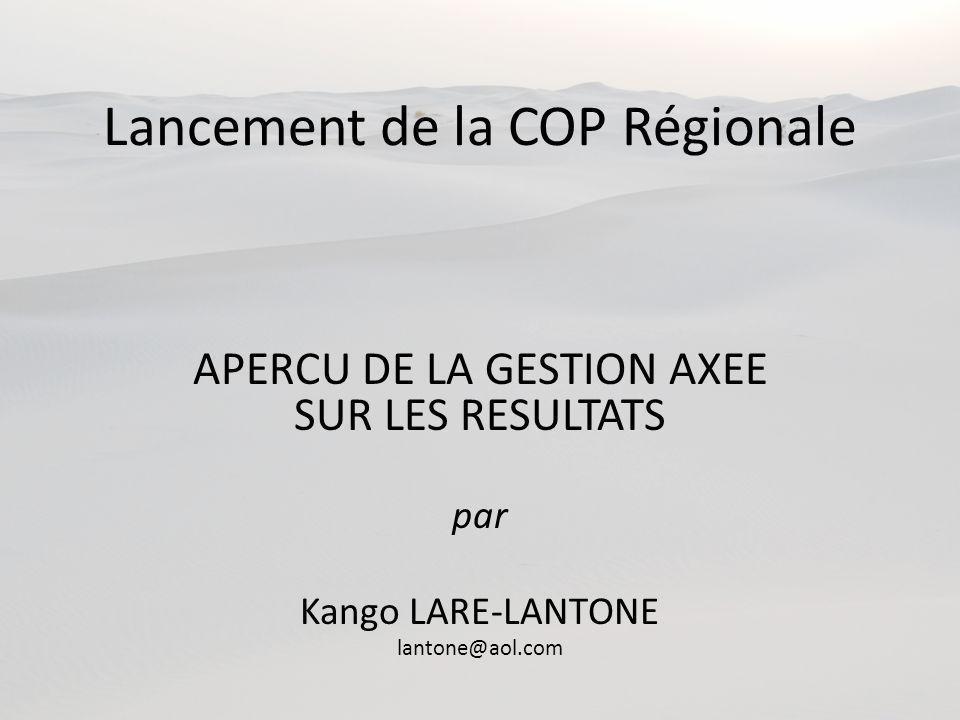 Lancement de la COP Régionale