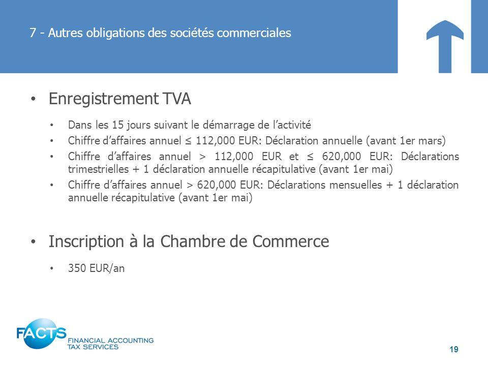7 - Autres obligations des sociétés commerciales