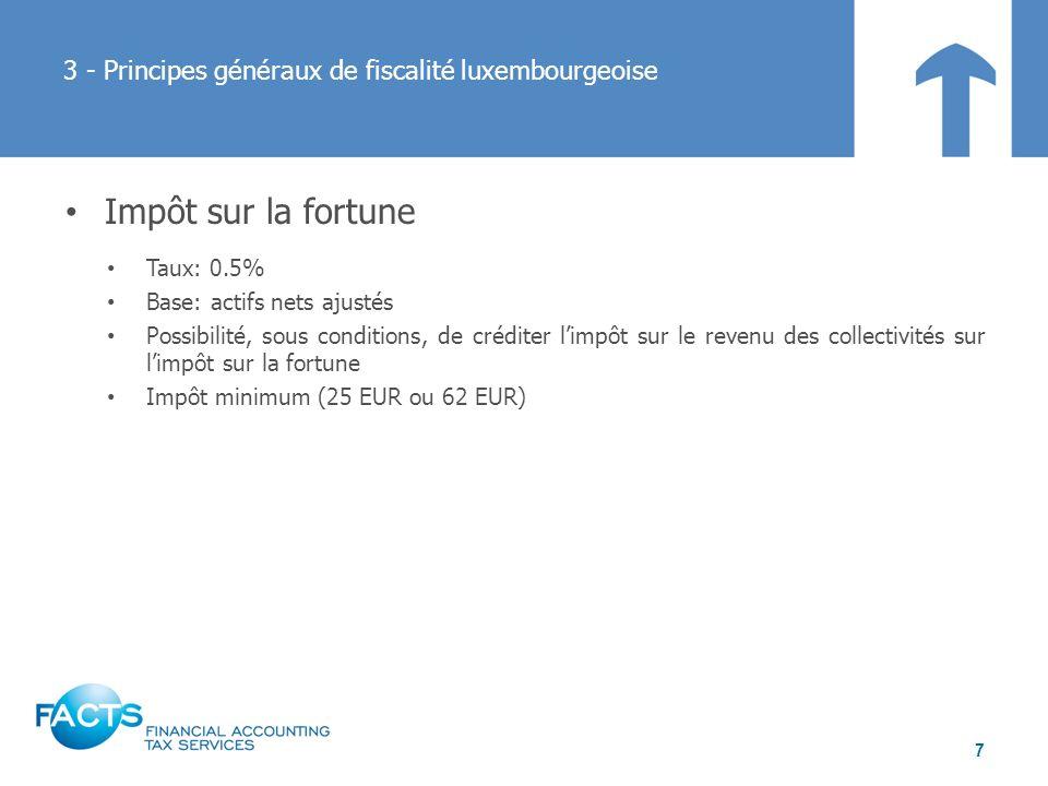 3 - Principes généraux de fiscalité luxembourgeoise