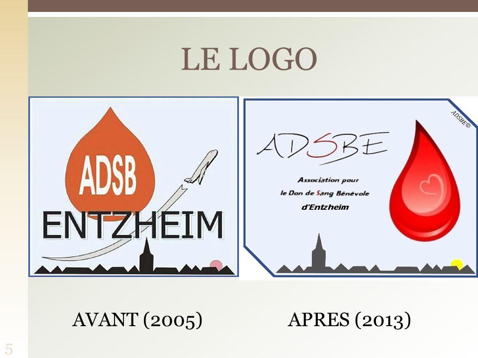 LE LOGO AVANT (2005) APRES (2013)