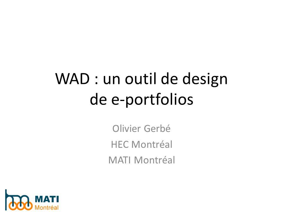 WAD : un outil de design de e-portfolios