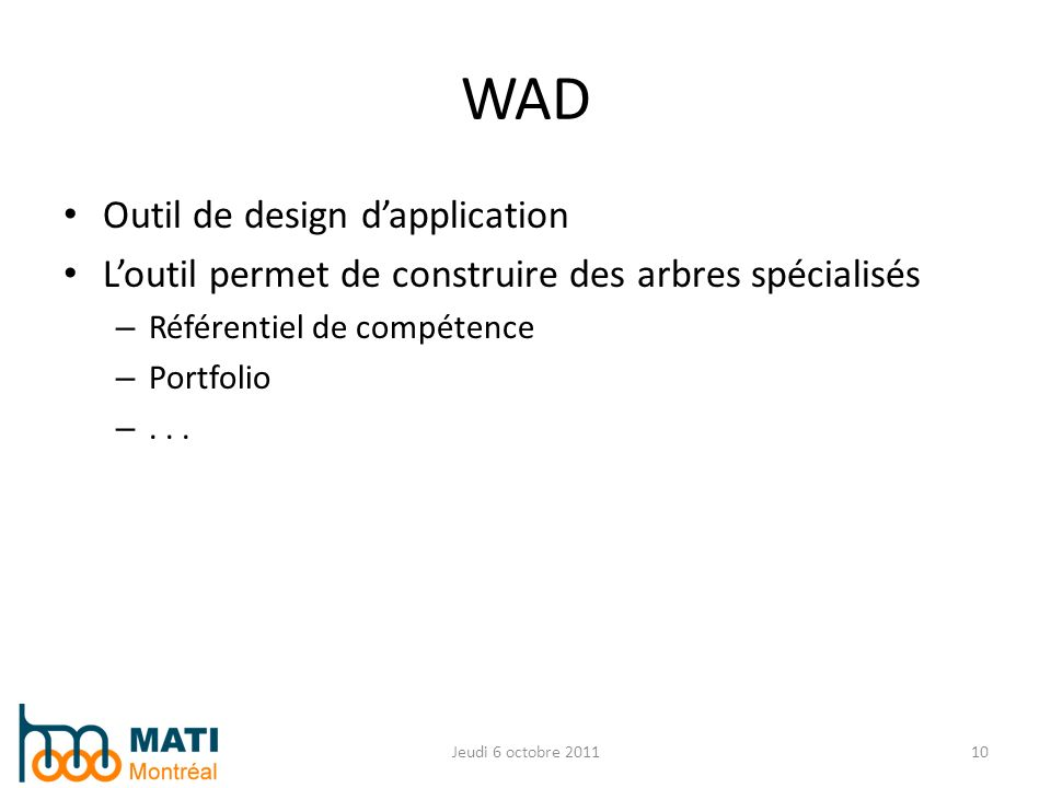 WAD Outil de design d'application