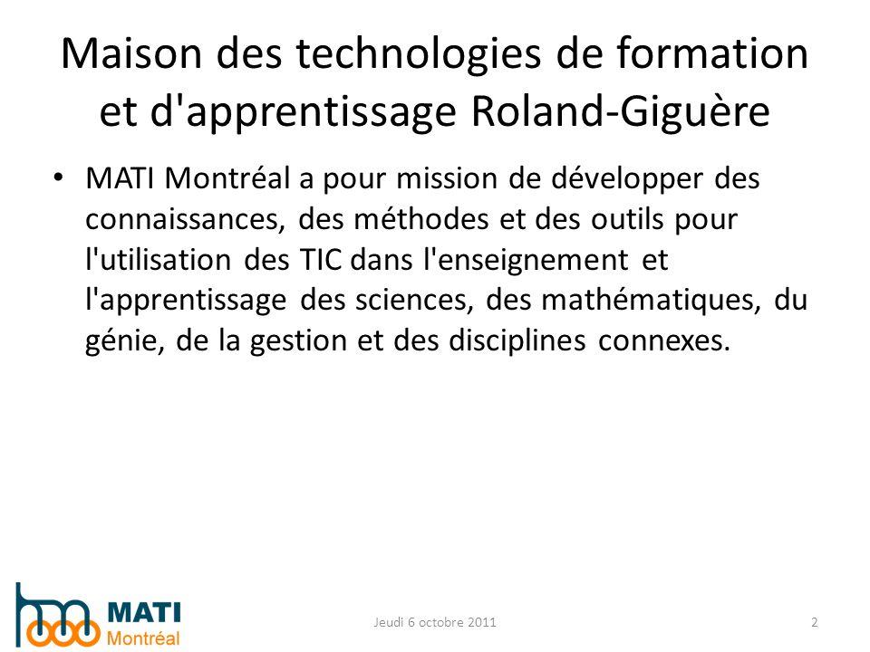 Maison des technologies de formation et d apprentissage Roland-Giguère