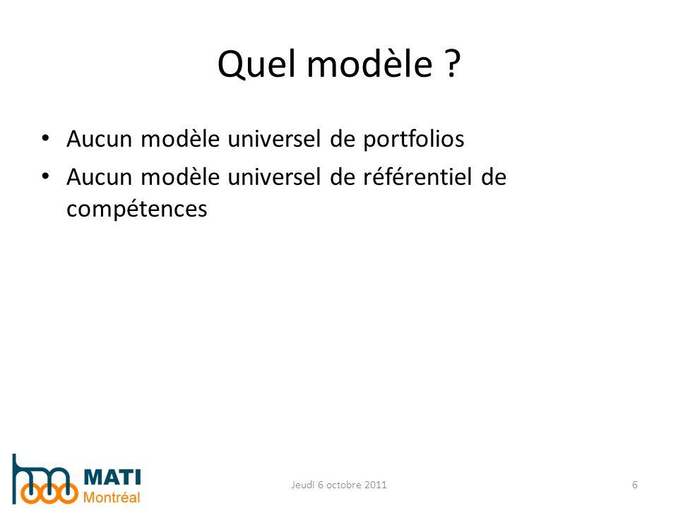 Quel modèle Aucun modèle universel de portfolios