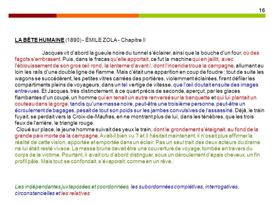LA BÊTE HUMAINE (1890) - ÉMILE ZOLA - Chapitre II