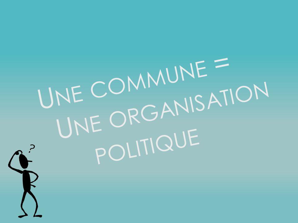 Une commune = Une organisation politique