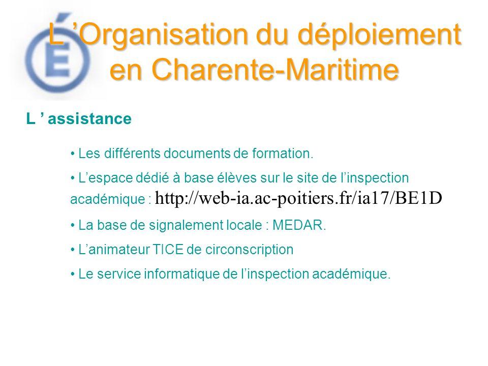 L 'Organisation du déploiement en Charente-Maritime