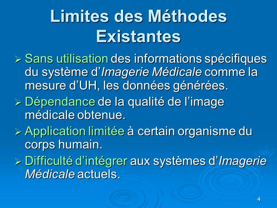 Limites des Méthodes Existantes