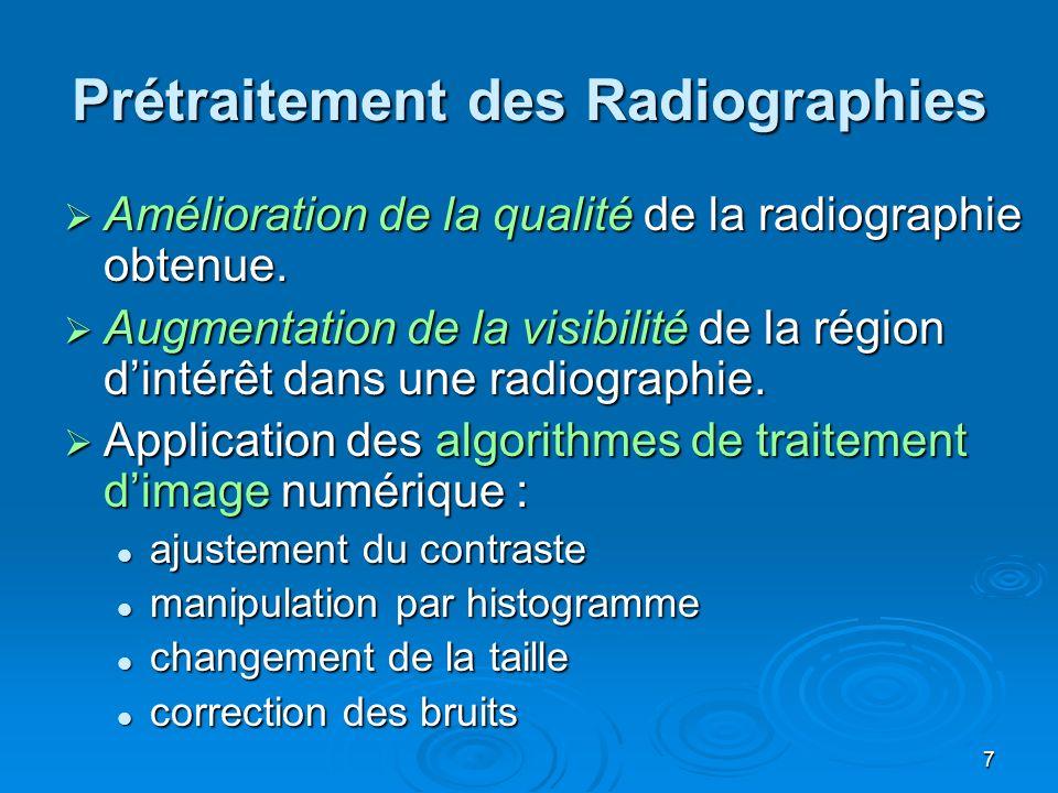 Prétraitement des Radiographies