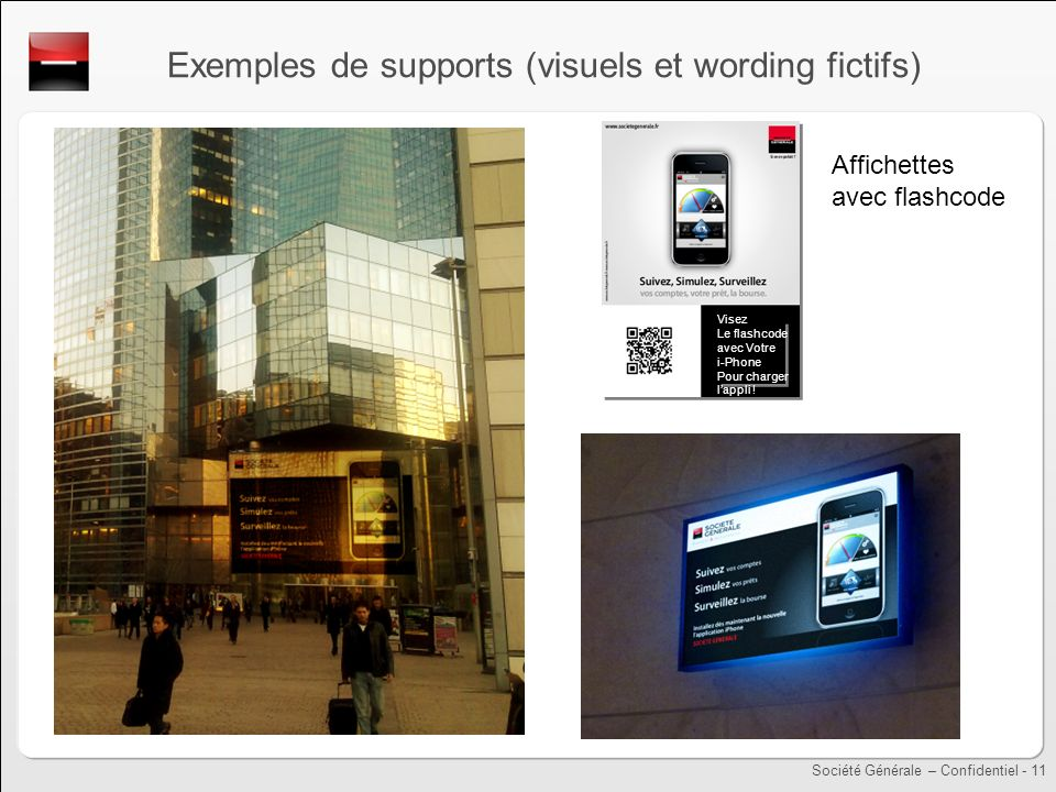 Exemples de supports (visuels et wording fictifs)