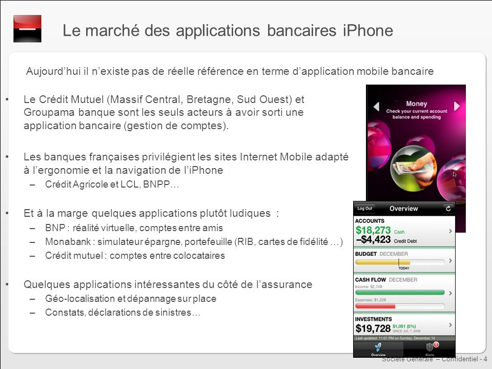 Le marché des applications bancaires iPhone