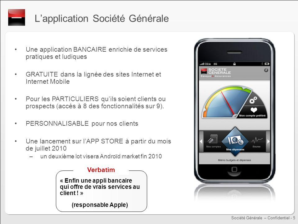 L'application Société Générale