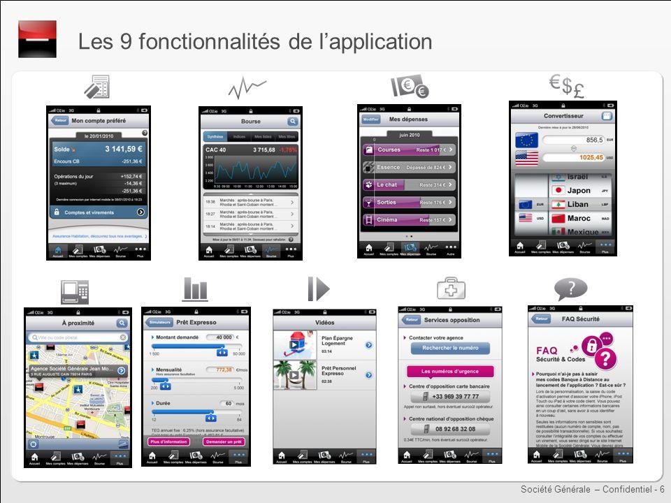 Les 9 fonctionnalités de l'application