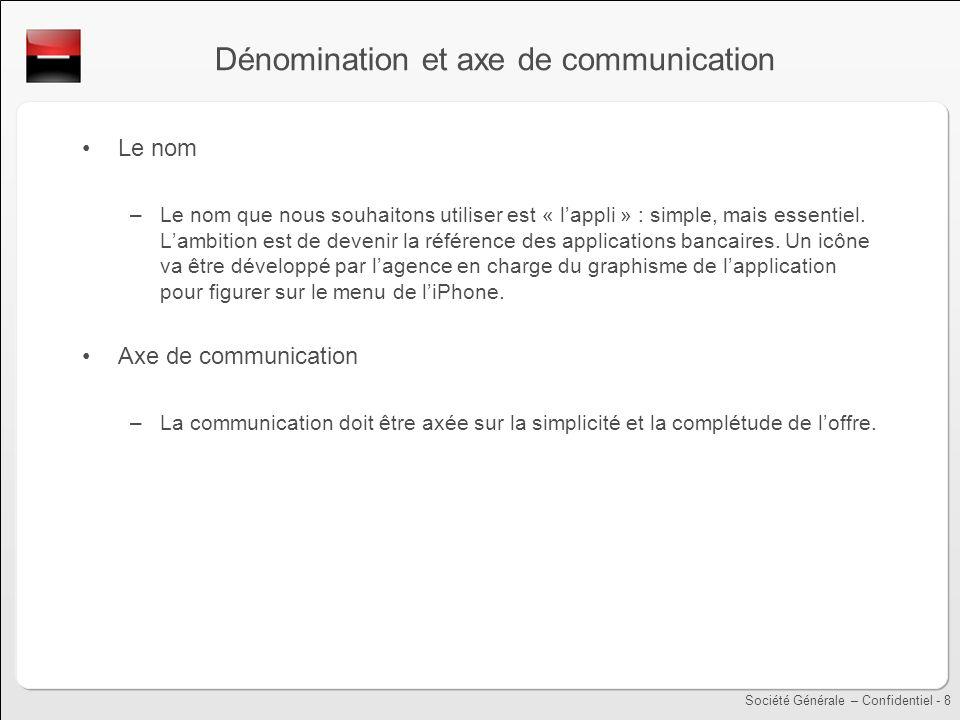 Dénomination et axe de communication