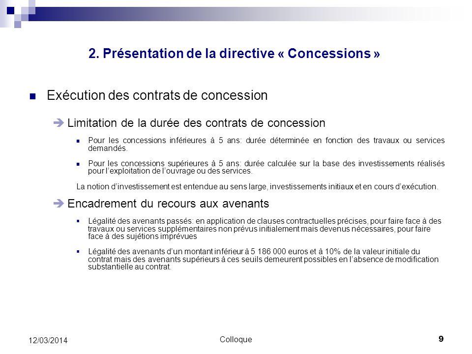 2. Présentation de la directive « Concessions »