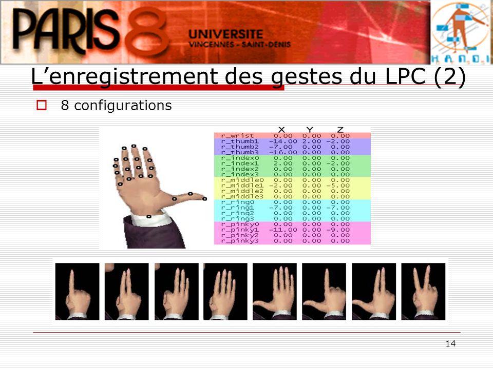 L'enregistrement des gestes du LPC (2)