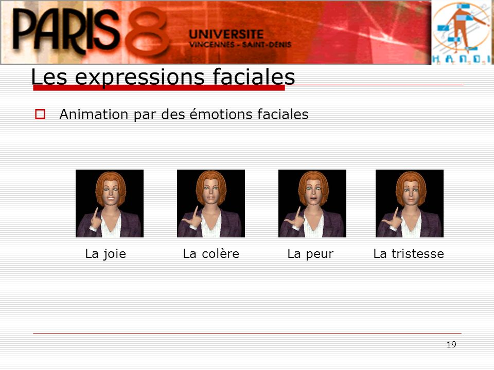 Les expressions faciales