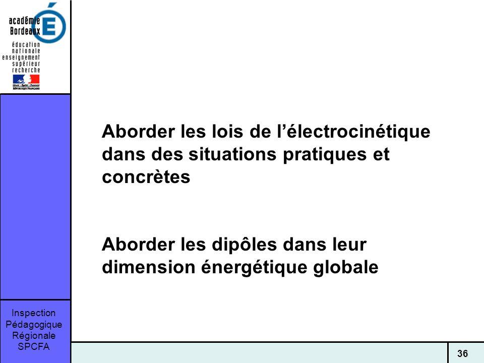Aborder les lois de l'électrocinétique dans des situations pratiques et concrètes