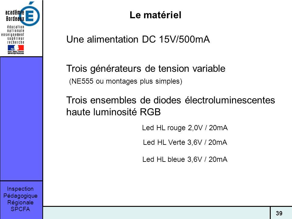 Une alimentation DC 15V/500mA