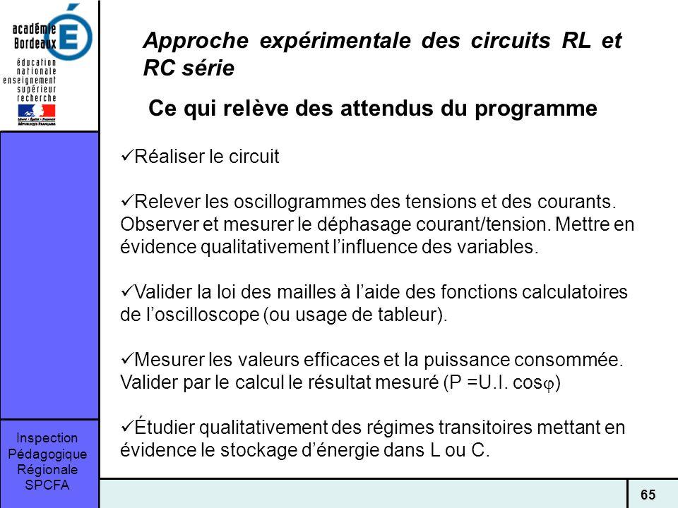Approche expérimentale des circuits RL et RC série