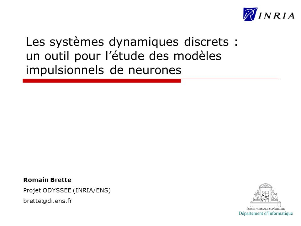 Les systèmes dynamiques discrets : un outil pour l'étude des modèles impulsionnels de neurones