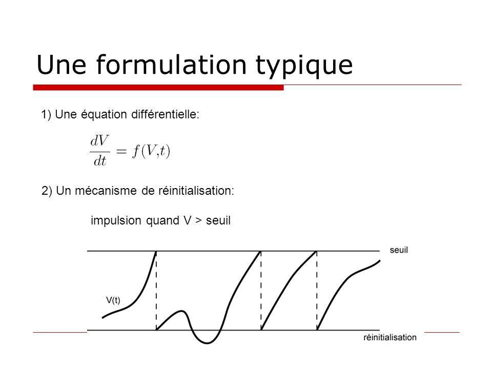 Une formulation typique