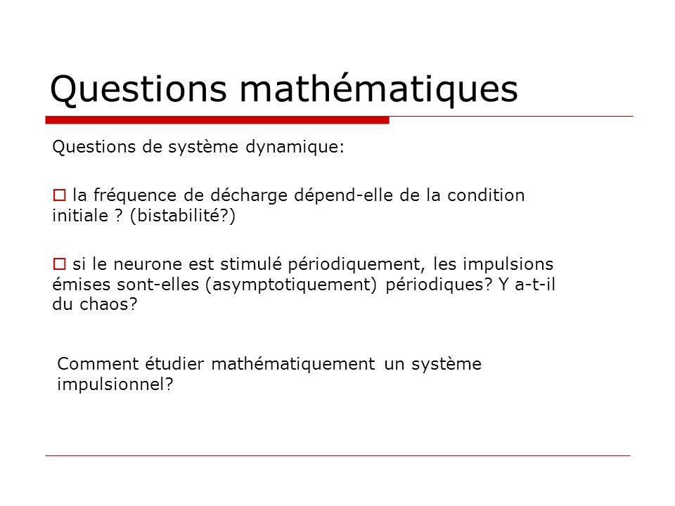 Questions mathématiques