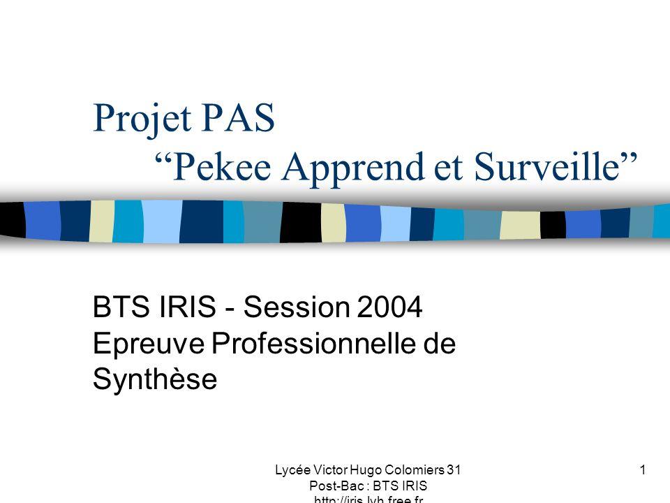 Projet PAS Pekee Apprend et Surveille