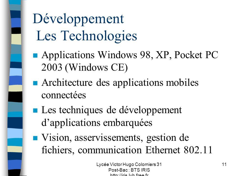 Développement Les Technologies
