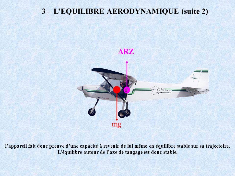 3 – L'EQUILIBRE AERODYNAMIQUE (suite 2)