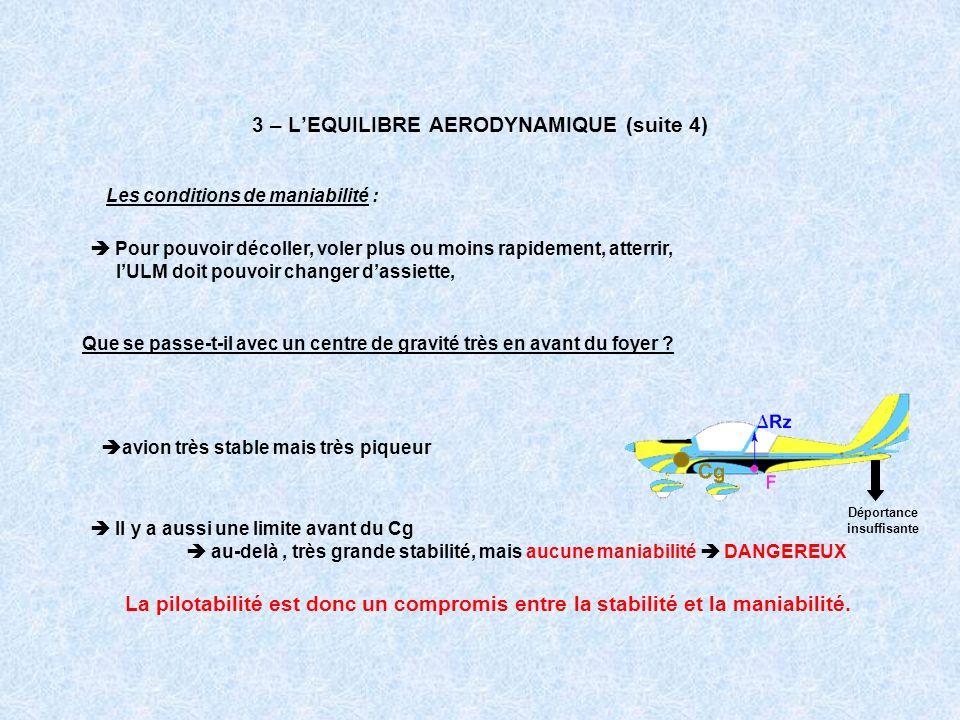 3 – L'EQUILIBRE AERODYNAMIQUE (suite 4)