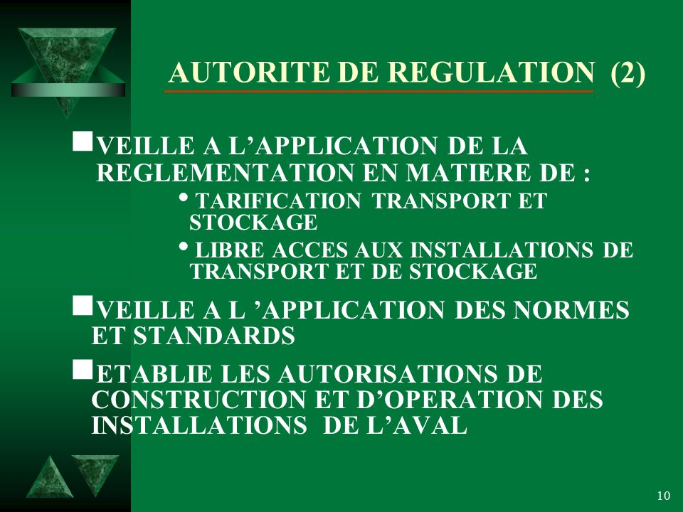 AUTORITE DE REGULATION (2)