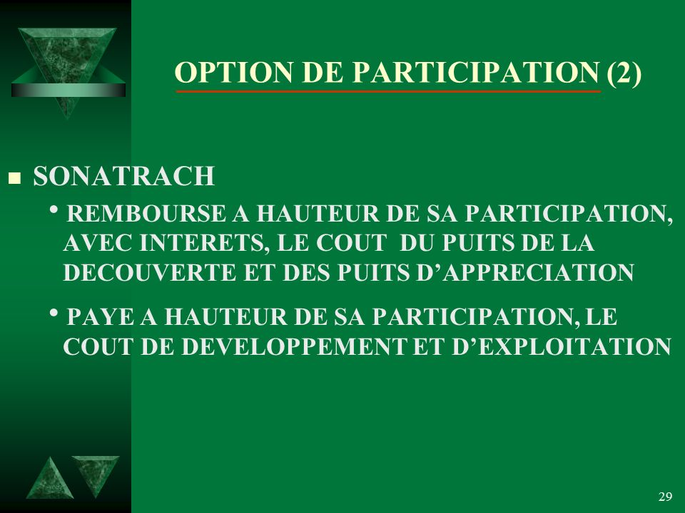 OPTION DE PARTICIPATION (2)