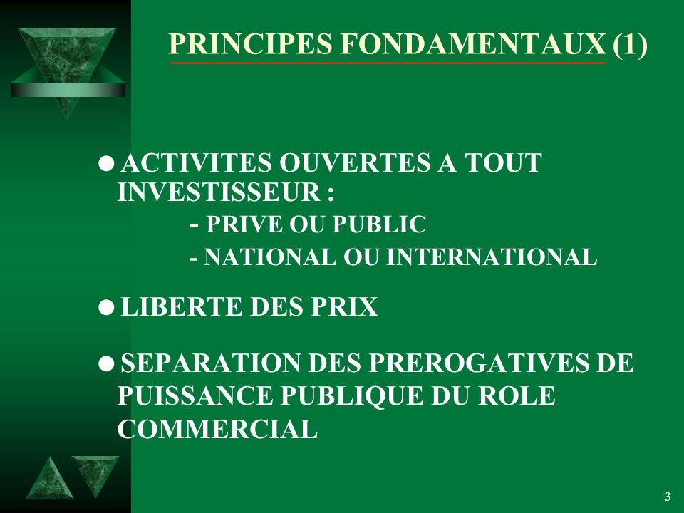 PRINCIPES FONDAMENTAUX (1)