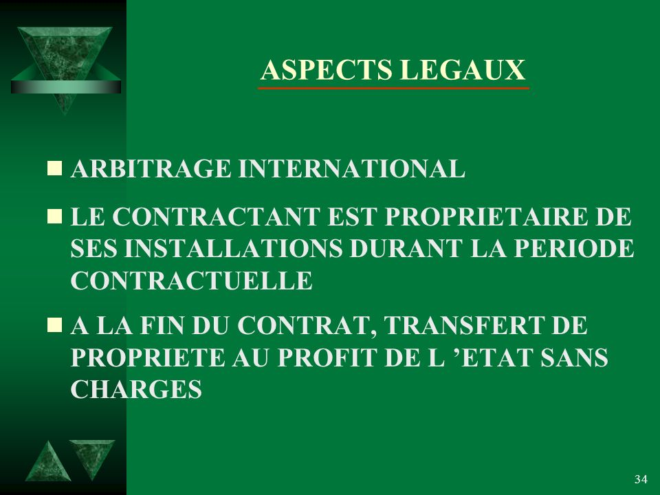 ASPECTS LEGAUX ARBITRAGE INTERNATIONAL