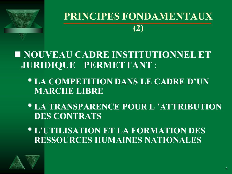 PRINCIPES FONDAMENTAUX (2)