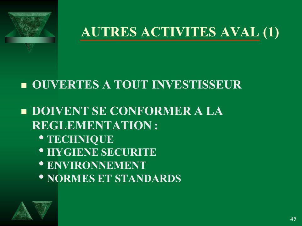 AUTRES ACTIVITES AVAL (1)