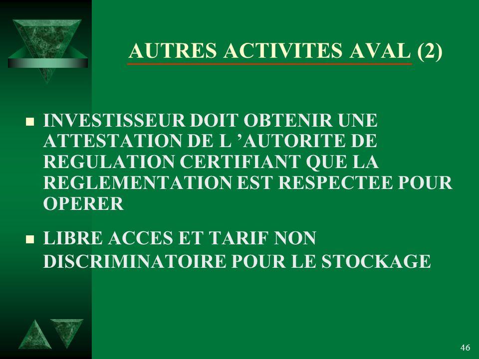 AUTRES ACTIVITES AVAL (2)