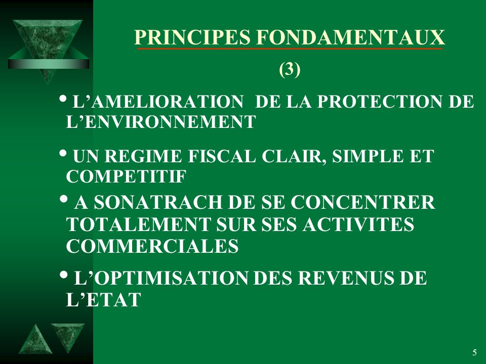 PRINCIPES FONDAMENTAUX (3)