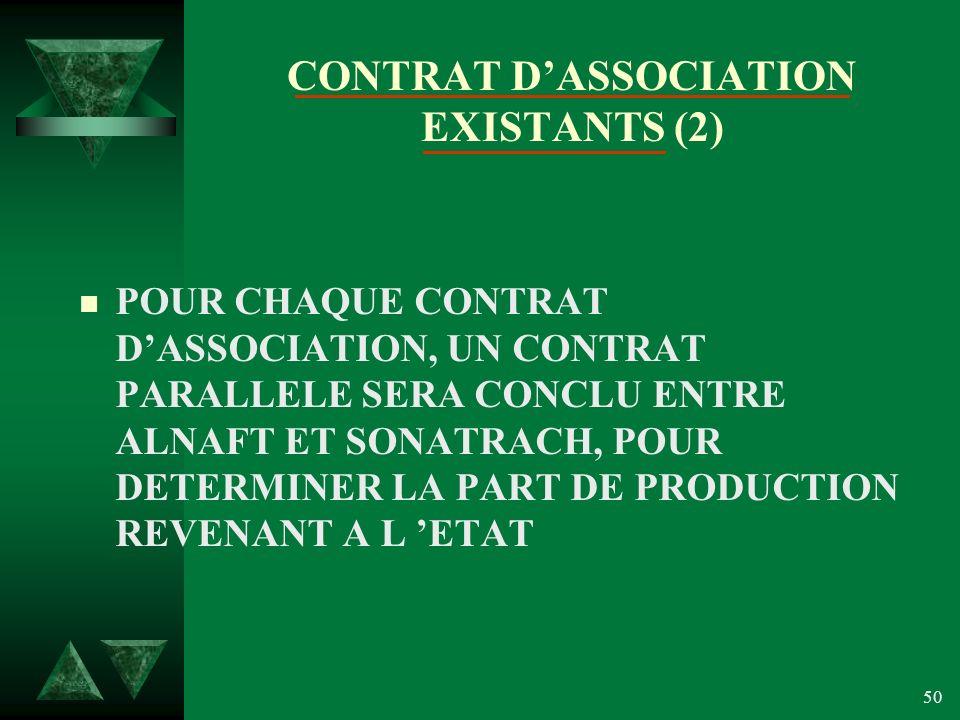 CONTRAT D'ASSOCIATION EXISTANTS (2)