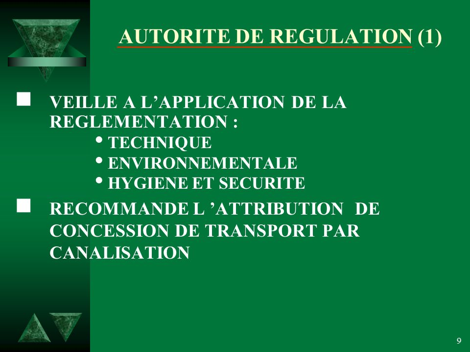 AUTORITE DE REGULATION (1)